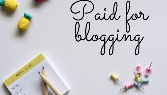 Paid for blogging
